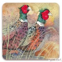 Pleasant Pheasants drinks coaster by Alex Clark