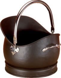 Black & Chrome Kenley Medium Coal Bucket