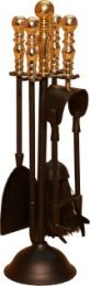 Black & Solid Brass Duchess Companion Set