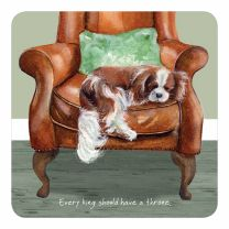 The Little Dog Cavalier King Charles Spaniel Coaster
