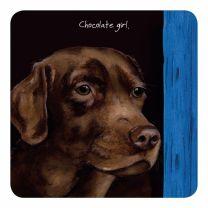 The Little Dog Chocolate Labrador Coaster
