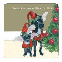 The Little Dog Christmas Doggie Helplines Coaster