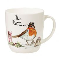 Country Pursuits The Postman Olive Mug - Robin