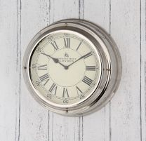 Nickel Bond Street Wall Clock - London