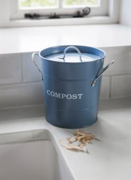 Compost Bucket in Dorset Blue