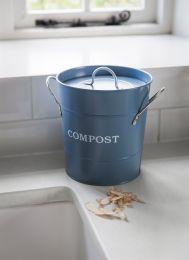 Compost Bucket in Dorset Blue