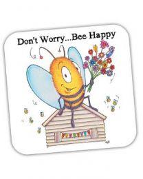 Don't Worry Bee Happy Coaster