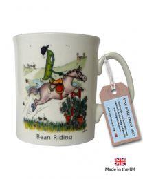 Bean Riding China Mug - Horse mug