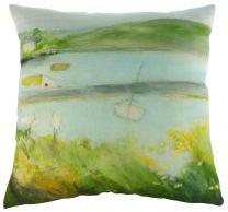 Sue Fenlon 'Two Seagulls' Cushion - Estuary Scenery