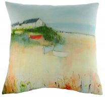 Sue Fenlon Harbour Boats Cushion - Seaside Cushion