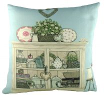Vintage cupboard cushion by Sally Swanell