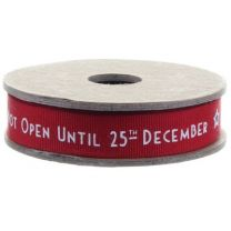 Do Not Open Until The 25th December Ribbon