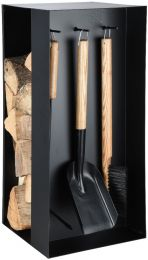 Fireplace Tools with Wood Storage