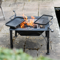 Firepit Box D with swing arms