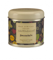 Julie Dodsworth Firecracker Candle Tin - Wax Lyrical