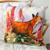 Alex Clark Fox & Foxgloves Cushion - 45cm x 45cm
