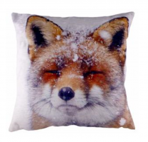 Winter Scene Fox Cushion