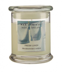 Fresh Linen Scented Candle Jar by Wax Lyrical