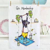 Compost Heap Gin Membership Tea Towel