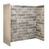 Ceramic Brick Bond Chamber Grey 3 piece
