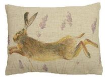 "Leaping Hare Cushion - Front - 17"" x 13"""