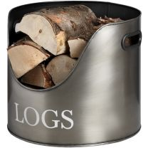 Antique Pewter Log Storage