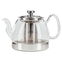 Hob Top Glass Teapot with Stainless Steel Infuser