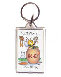Don't Worry Honey Keyring