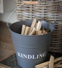 Kindling Bucket in Slate
