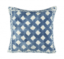 Lathi Cushion - blue & off white cushion (filled) by Parlane