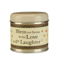 Bless this home with love & laughter Julie Dodsworth Candle Tin - Wax Lyrical