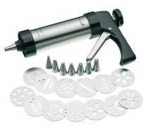 Icing Gun with Various Nozzles and Biscuit Cutters