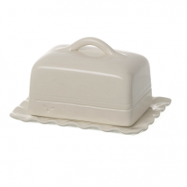 Miel butter dish in cream ceramic. Handmade & painted Portuguese ceramics