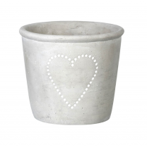Parlane Concrete Flower Planter with Heart Detail