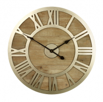 Albus Wood & Metal Wall Clock
