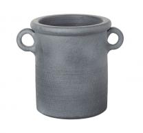 Parlane Barrow Dark Gray Ceramic Pot