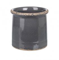 Large Parlane Compton Pot in Dark Gray