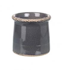 Parlane Compton Pot in Dark Gray - Small