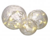 Glass Crackle Ball Lights