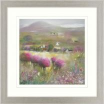 Pink Meadows Framed Picture by Kanita Sim