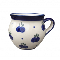 Polish Pottery Barrel Mug in Blueberry by Boleslawiec