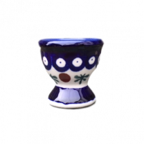 Polish Pottery Egg Cup in Cranberry