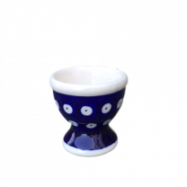 Frogeye Polish pottery egg cup - Boleslawiec (Hand Painted)