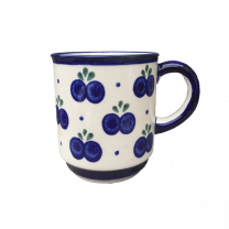 Boleslawiec Polish Pottery Straight Sided Mug in Blueberry