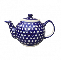 Boleslawiec Frogeye patterned Large Teapot - Polish Pottery