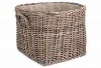 Willow Direct Grand Rattan Hessian Lined Log Basket