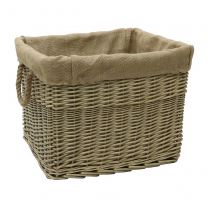 Dewi Valley Rectangular Lined Log Basket
