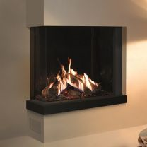 Gazco Reflex 75T-2 two-sided Gas Fire