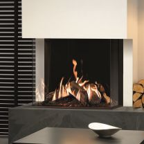Gazco Reflex 75T-3 3 sided Gas fire