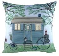 Sally Swannell Shepherds Hut Cushion